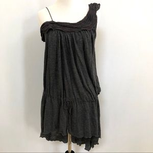 Free People gray knit tunic one shoulder